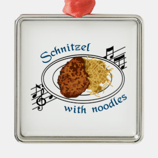 Schnitzel With Noodles Christmas Ornament