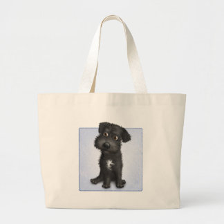 Schnoodle (Black) Large Tote Bag