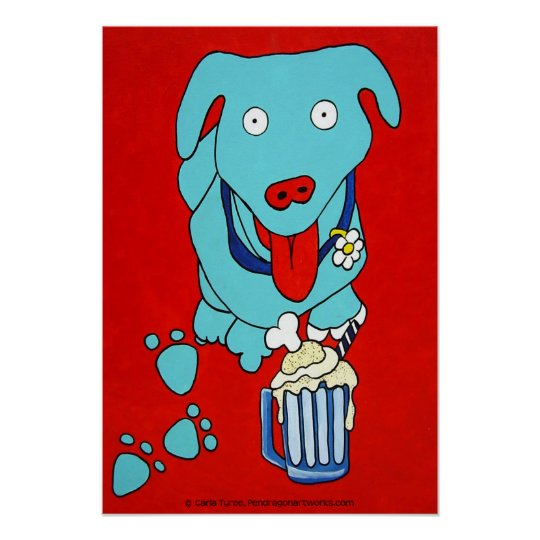"""SCHNOOK'S ROOT BEER FLOAT"" Dog Art Print"