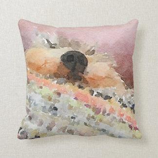 Schnoozing Schnauzer Cushion