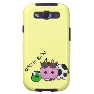 Schnozzle Cow Cash Cow Cartoon w Money Bag Samsung Galaxy SIII Cases