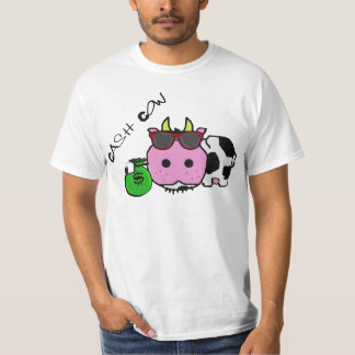 Schnozzle Cow Cash Cow Cartoon w/Money Bag T-Shirt