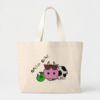 Schnozzle Cow Cash Cow Cartoon w/Money Bag