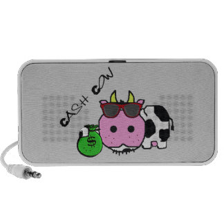 Schnozzle Cow Cash Cow Cartoon w/Money Bag Travelling Speakers