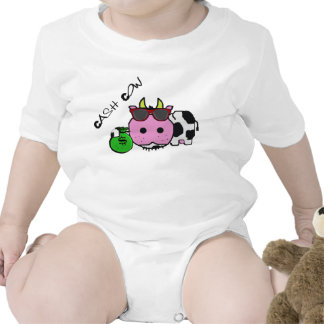 Schnozzle Cow Cash Cow Cartoon w Money Bag Tee Shirts