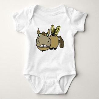 Schnozzle Horse Horsefly Cartoon Baby Bodysuit