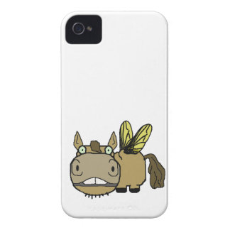 Schnozzle Horse Horsefly Cartoon iPhone 4 Cover
