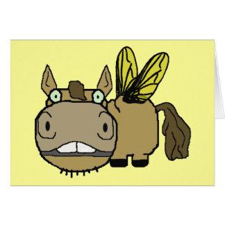 Schnozzle Horse Horsefly Cartoon Greeting Card