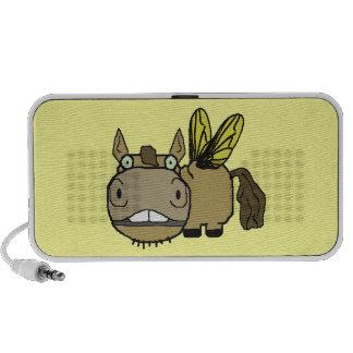 Schnozzle Horse Horsefly Cartoon Mini Speakers