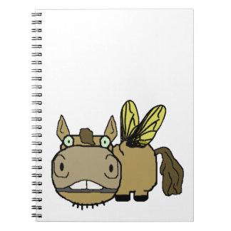 Schnozzle Horse Horsefly Cartoon Note Books