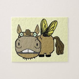 Schnozzle Horse Horsefly Cartoon Puzzle