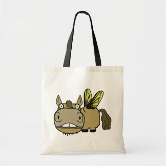 Schnozzle Horse Horsefly Cartoon Budget Tote Bag