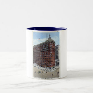 Schofield Building, Cleveland Ohio 1920s Vintage Two-Tone Mug