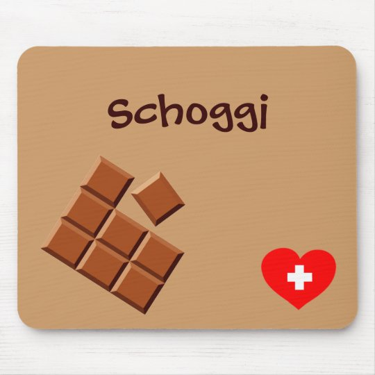Schoggi (Swiss chocolate) mousepad