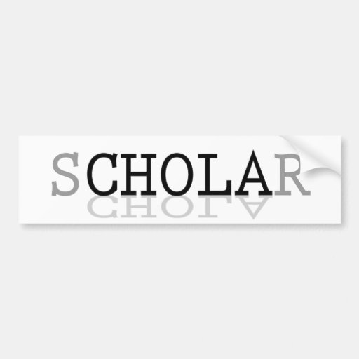 sCHOLAr Defying Stereotypes Bumper Stickers