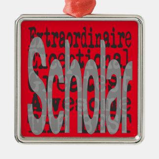 Scholar Extraordinaire Silver-Colored Square Decoration