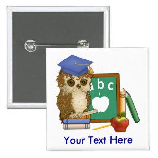 Scholar Owl 15 Cm Square Badge
