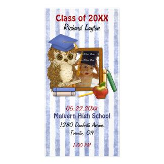 Scholar Owl - Graduation Photo Cards