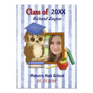 Scholar Owl - Graduation Photo Invitation