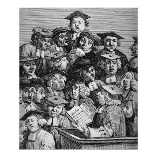 Scholars at a Lecture, 20th January 1736-37 Posters