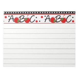 School ABC Apple Notepad