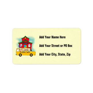 School and School Bus T-shirts and Gifts Address Label