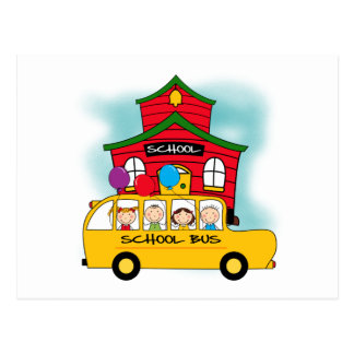 School and School Bus T-shirts and Gifts Postcard
