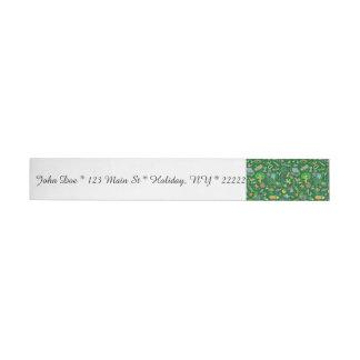 School Art Supplies on Green Wraparound Address Label