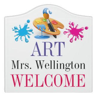 School ART Teacher Classroom Door Sign