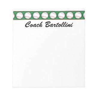 School Baseball Note Pad - SRF