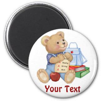 School Bear - First Grade Fridge Magnet