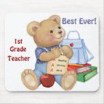 School Bear - First Grade Mousemat