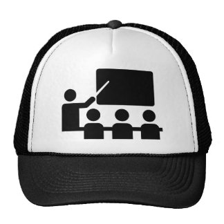 School blackboard teacher hat