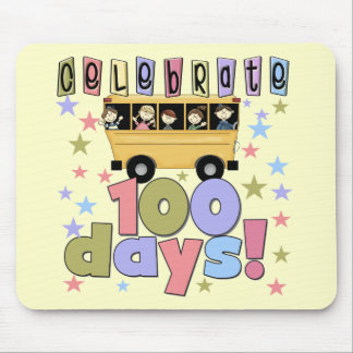School Bus 100 Days Tshirts and Gifts Mouse Pads