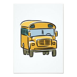 School Bus 2 13 Cm X 18 Cm Invitation Card
