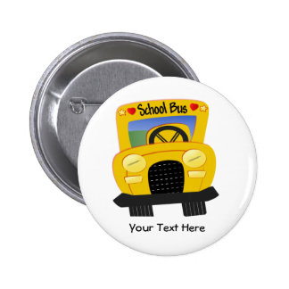 School Bus 2 (Customizable) 6 Cm Round Badge