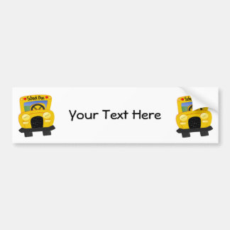 School Bus 2 (Customizable) Bumper Sticker