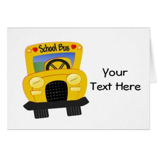 School Bus 2 (Customizable) Card