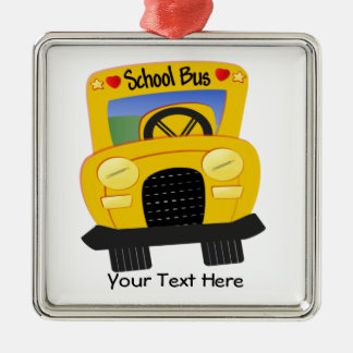 School Bus 2 (Customizable) Christmas Ornament
