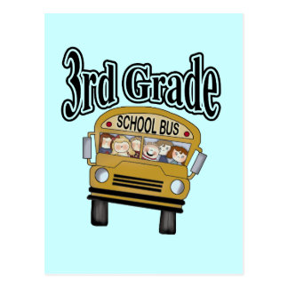 School Bus 3rd Grade Tshirts and Gifts Postcard