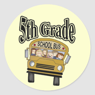 School Bus 5th Grade Tshirts and Gifts Stickers