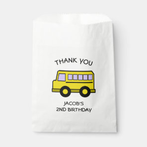 School Bus Birthday Favour Bags