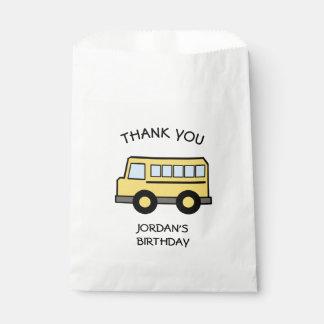 School Bus Birthday Favour Bags