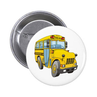 School Bus Cartoon 6 Cm Round Badge