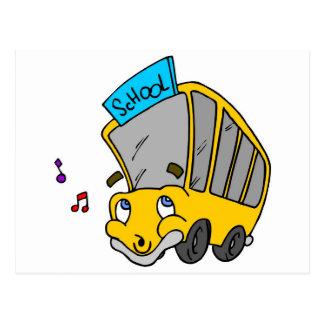 School Bus Drawing Postcard