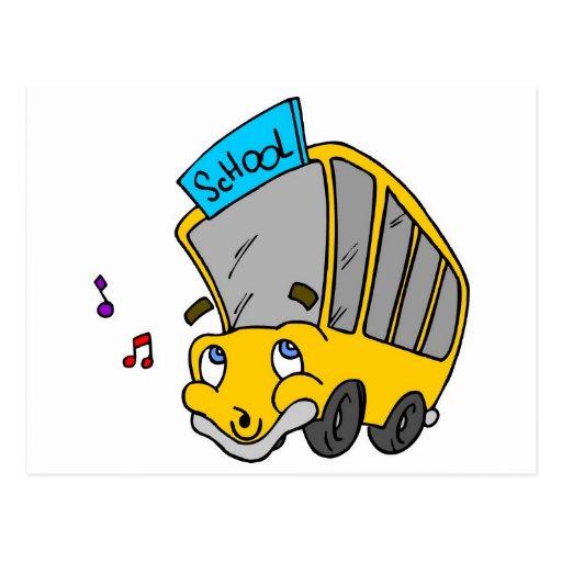 School Bus Drawing Post Card