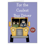 School Bus Driver Customisable Greeting Card