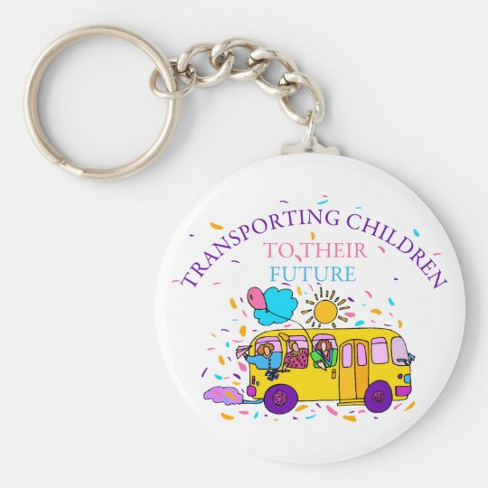 School Bus Driver Key Chain