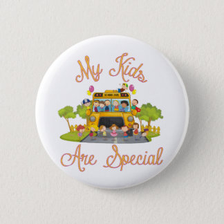 School bus driver My kids are special 6 Cm Round Badge