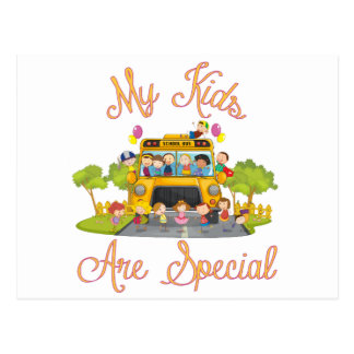 School bus driver My kids are special Postcard